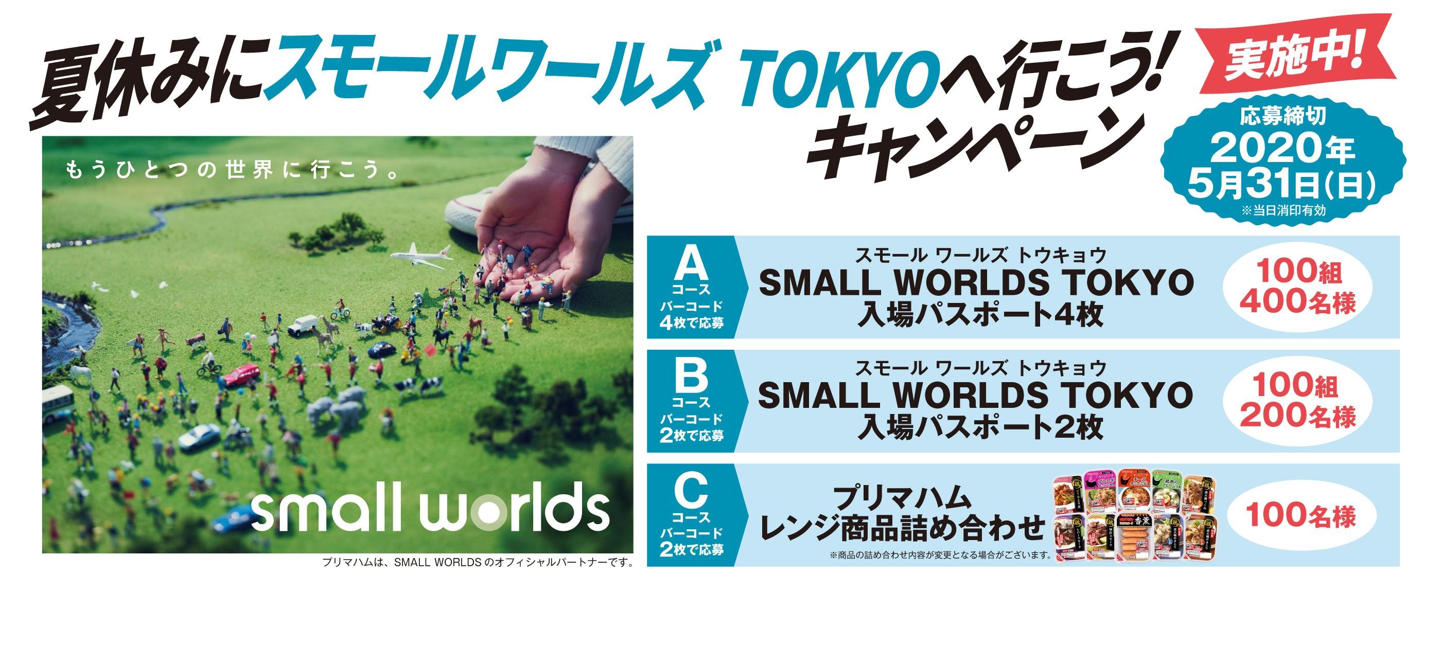 夏休みにスモールワールズ TOKYOへ行こう!キャンペーン