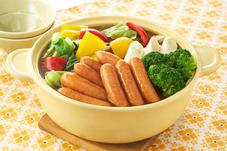 ウインナーとカラフル野菜のカレー鍋