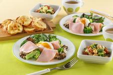 プリマヘルシー糖質ゼロ ロースハムの朝食メニュー