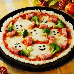 お化けが踊るハロウィンごはんピザ