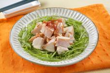 サラダチキンと水菜のレモンマヨネーズサラダ