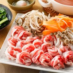 秋野菜のすきしゃぶ
