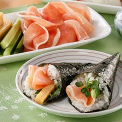生ハムの手巻き寿司