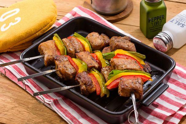 ポークと野菜のソースマリネBBQ串