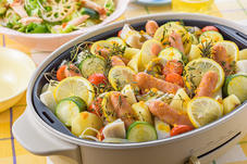 ウインナーとたっぷり野菜のぎゅうぎゅう焼き