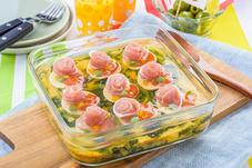 彩り野菜と生ハムの冷製キッシュ