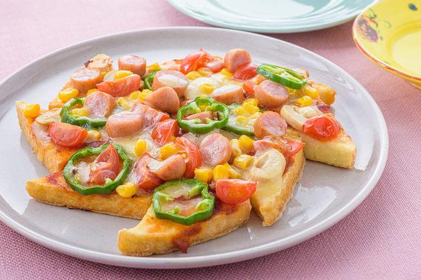 フライパンで焼くだけ♪厚揚げのピザ