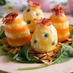 卵ポテトサラダ☆カリカリベーコンのせ
