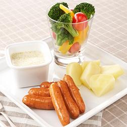ウインナーと野菜の簡単バーニャカウダ