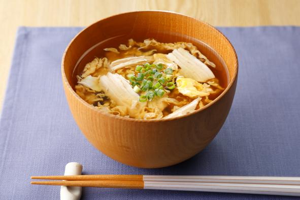 サラダチキンのかき玉スープ