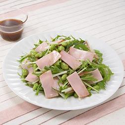 ハムと枝豆の和風サラダ