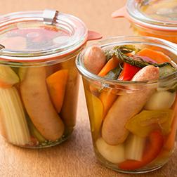 ウインナーと夏野菜のピクルス